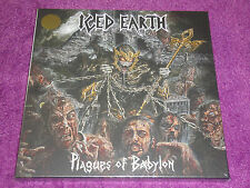 ICED EARTH PLAGUES OF BABYLON 3x10''LPs GOLD VINYL 2014 SEALED metallica sodom
