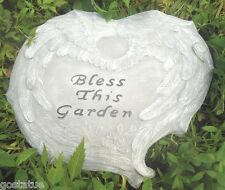 Gostatue Mold bless this garden angel wings plaque mould