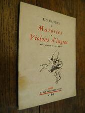 Les cahiers de Marottes et violons d'Ingres n° 84