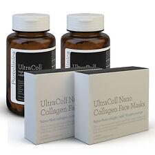 UltraColl Collagen: Nano Face Masks & 1000mg Tablets - rebuild skin inside & out