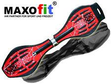 Waveboard MAXOfit XL Spider Red, bis 95 kg , mit Tasche und LED Leuchtrollen