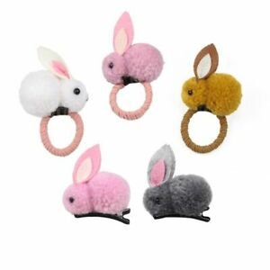 1pc Elastic Rabbit Ball Hairpins Girls Cute Ornaments Headwears Women Hair Acces