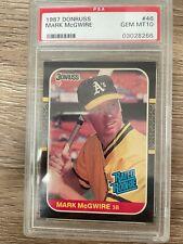 New listing 1987 Donruss Mark McGwire ROOKIE CARD RC PSA 10 GEM MINT