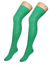Nuevo día de San Patricio Irlandés Llano Lycra Calcetines Verde Esmeralda Fancy Dress Accesorio