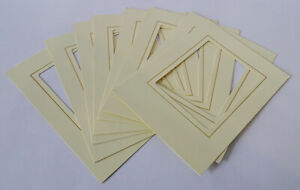 8x Traditional Photo Album 5 x 4 Overlays for Post Album - Ivory +Gold pinstripe