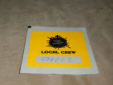 NIGHT OF THE PROMS Local Crew Backstage Pass orange gebraucht/used