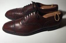 $625 CHURCH'S Custom Grade Brown Leather Cap Toe Mens Oxford Shoes Sz 11 / 12 us