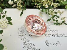 Teelichthalter SCHWIMMSCHALE BAUERNSILBER silber rosa 7x5cm Glas Shabby Chic Neu