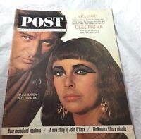 1963 Liz and Burton Cleopatra    Saturday Evening Post Magazine