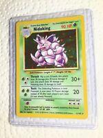 NIDOKING - 11/102 - Base Set - Holo - Pokemon Card - EXC/NEAR MINT