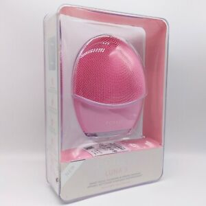 FOREO Luna 3 for Normal Skin Pale Pink Facial Cleansing -NEW- Opened Box No Code