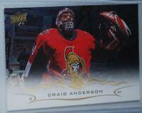 2018-19 Upper Deck Silver Foil #129 Craig Anderson Ottawa Senators