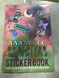 NEW Typo Creative Sticker Book Labels Tags Irridescent Trend Over 100 Stickers