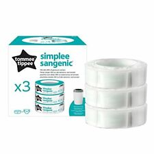 (3 Charges) - Tommee Tippee - Sangenic Refill Cassettes for Nappy Bins Bin