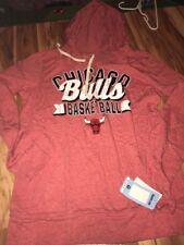 NBA 5th & Ocean Chicago Bulls Women's Hoodie Shirt Size Large