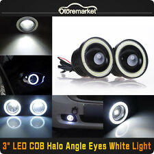 "3"" Inch COB LED Fog Light Projector Car Lamp White Halo Angel Eye Ring DRL Bulb"