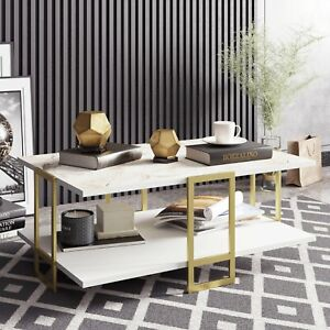 Bustillos Storage Coffee Table from Wayfair - Marble Affect - RRP: £199