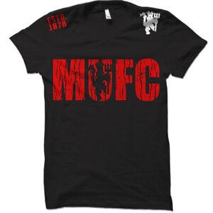 Manchester United MUFC Soccer Futbol Football Club 100% Cotton T Shirt Top New