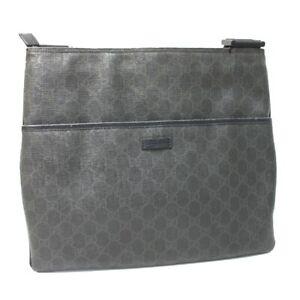 GUCCI GG pattern Messenger Bag Shoulder Bag PVC x Leather 162904
