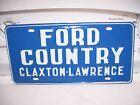 Vintage 60s original nos Ford Country promo steel License plate Georgia dealer