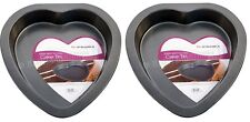 2 x Prima Heart Shape Non Stick Cake Tin Baking Tray 23 x 22 x 3.7cm