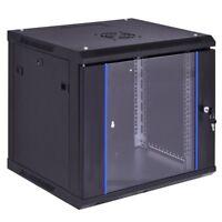 6U Wall Mount Data Network Server Cabinet Enclosure Rack w/ Locking Glass Door
