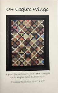 On Eagle's Wings Quilt Pattern Flying Geese Pineapple Edyta Sitar Laundry Basket