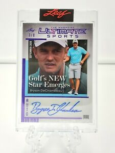 2021 Bryson DeChambeau Leaf Ultimate Sports The Magazine Auto /8 - Golf