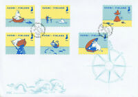Finland Moomin Stamps 2020 FDC Our Sea Fish Boats Cartoons 6v S/A Set