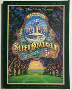 NFL Super Bowl XXVIII 28 Program football magazine Bills v Cowboys Emmitt Smith