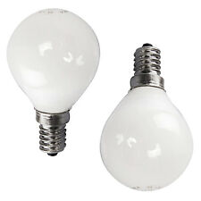 10 x HOMEBASE 60w E14 SES SCREW IN CAP UK 240v OPAL LIGHT BULB GOLF ROUND LAMP