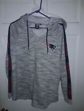 New England Patriots football Hooded Sweatshirt NFL apparel Hood Shirt  Ladies L
