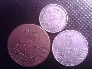 COSTA RICA   25 CENTIMOS  1983   5 COLONES 2008    25 COLONES  2007    SEP19