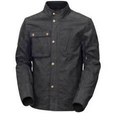 Blousons noirs textiles coton ciré pour motocyclette