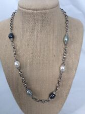 Beautiful RL Ralph Lauren sterling Silver 925 freshwater pearl necklace
