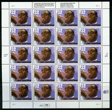 US SCOTT# 2982 LOUIS ARMSTRONG COMPLETE SHEET OF 20 STAMPS MNH AS SHOWN
