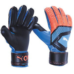 PUMA Men's ONE Protect 3 Goalkeeper Gloves Blue/Red 04148021