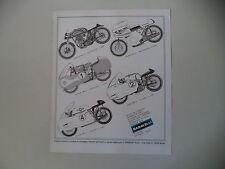 advertising Pubblicità 1970 BARAVELLI NORTON 500/MORINI 250/MONDIAL/GUZZI/GILERA