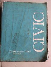 1995 Honda Civic Factory Service Repair Manual Dealership Workshop 1st Edition