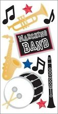 MARCHING BAND Drum Trumpet Clarinet Saxophone SandyLion Essentials Stickers