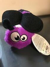 goDog Black And Purple Bee with Chew Guard Technology Plush Squeaker Dog Toy