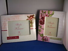 Picture Frames Ceramic Set of 2 I Love You 9x7 and Forever More 8x7 4