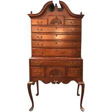 18th Century Maple Bonnet Top Highboy