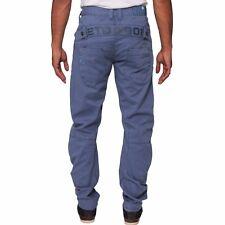 Mens ETO Designer Chino Detailed Straight Regular Fit Multi Pocket Jogger Jeans