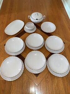 Tirschenreuth China Set. Purchased from factory - new in 1995 never used - Pink