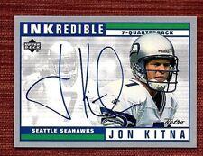 1999 Upper Deck Retro Inkredible #JK Jon Kitna Autographed Seattle Seahawks Card