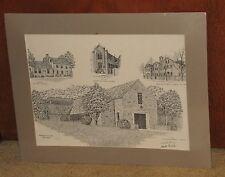 "1987 Baltimore Carmel Monastery Sites Print by Martin Barry Signed Ltd Ed 16x20"""