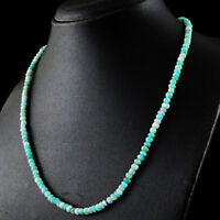 81.00 Cts Earth Mined Round Shape Faceted Amazonite Beads Single Strand Necklace