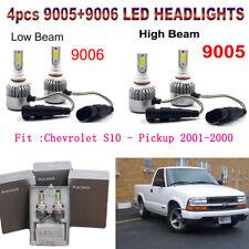 4x 9006+9005 LED Hi/Low Beam Headlight Kit For Chevrolet S10 - Pickup 2001-2000