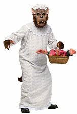 Big Bad Granny Nightgown Wolf Adult Costumes Halloween Dress Up Funworld